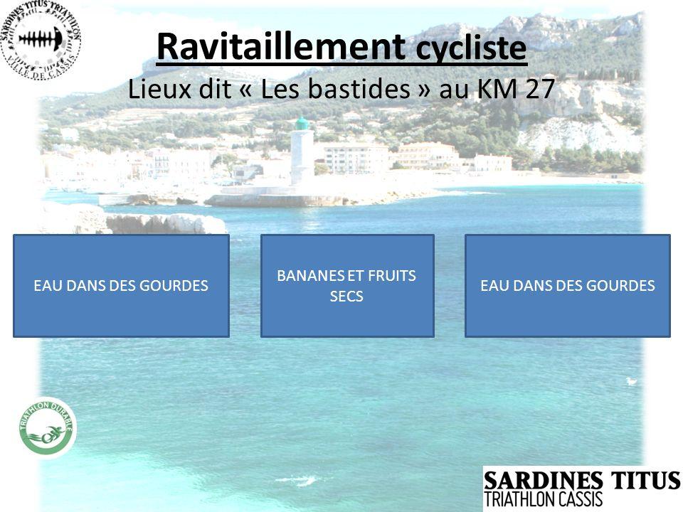 Ravitaillement cycliste Lieux dit « Les bastides » au KM 27