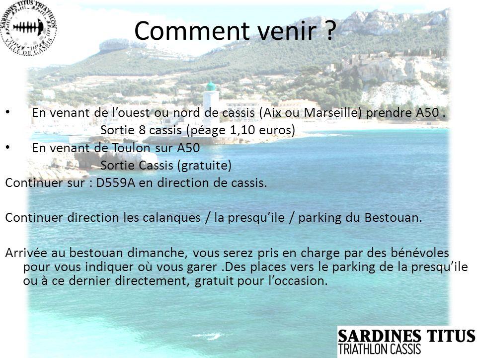 Comment venir En venant de l'ouest ou nord de cassis (Aix ou Marseille) prendre A50 . Sortie 8 cassis (péage 1,10 euros)