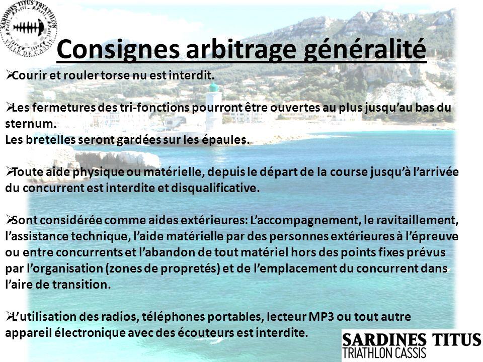 Consignes arbitrage généralité