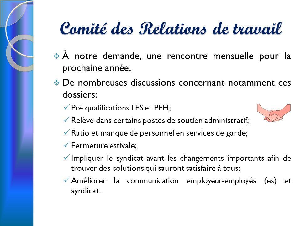 Comité des Relations de travail