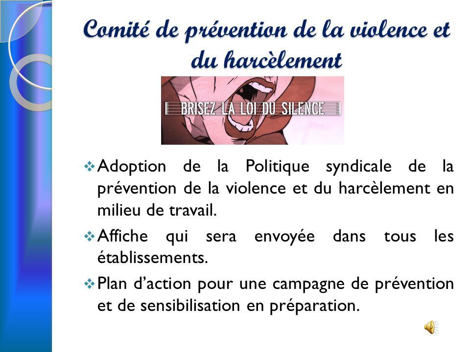 Comité de prévention de la violence et du harcèlement