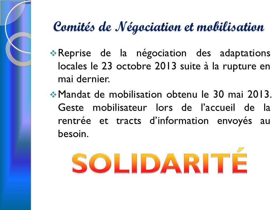 Comités de Négociation et mobilisation