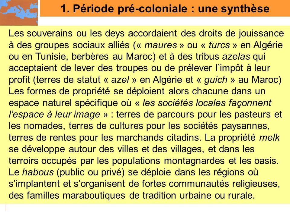 1. Période pré-coloniale : une synthèse