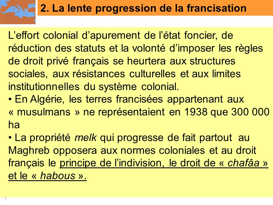 2. La lente progression de la francisation