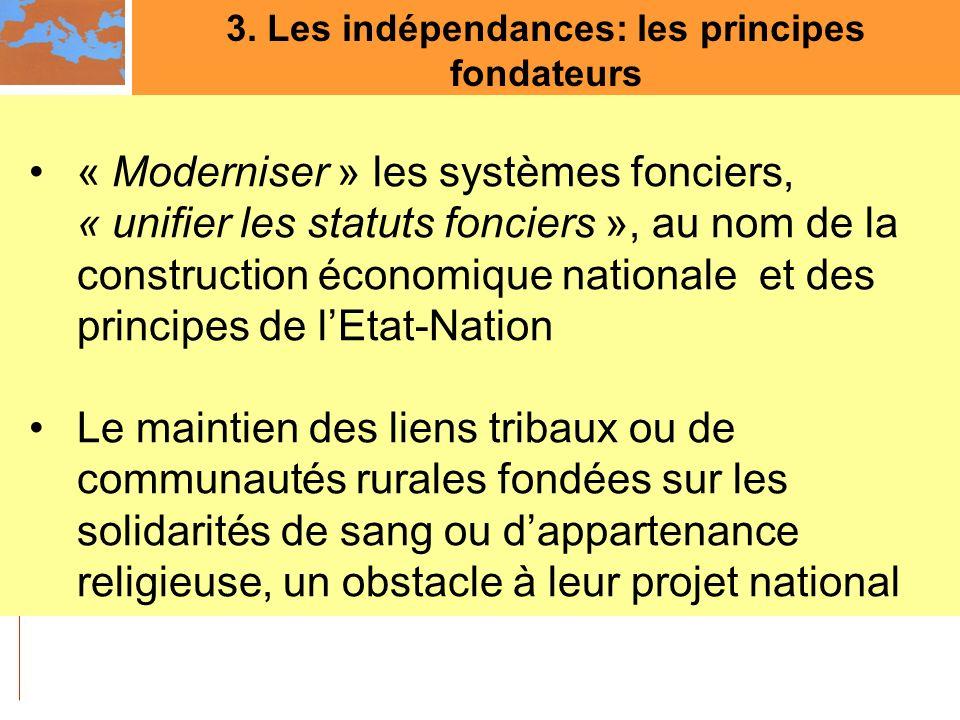 3. Les indépendances: les principes fondateurs