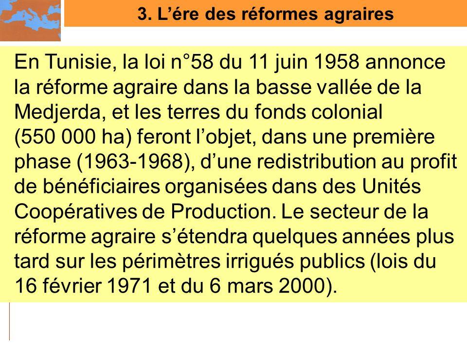 3. L'ére des réformes agraires