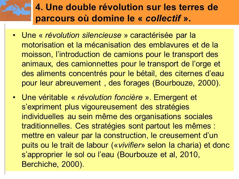 4. Une double révolution sur les terres de parcours où domine le « collectif ».