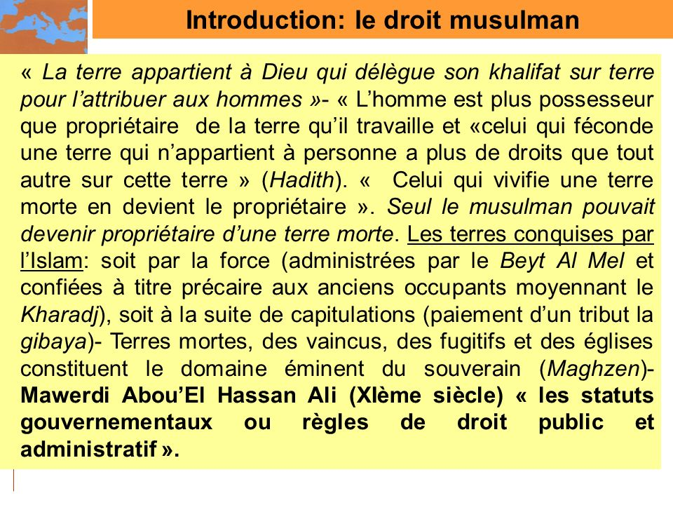 Introduction: le droit musulman