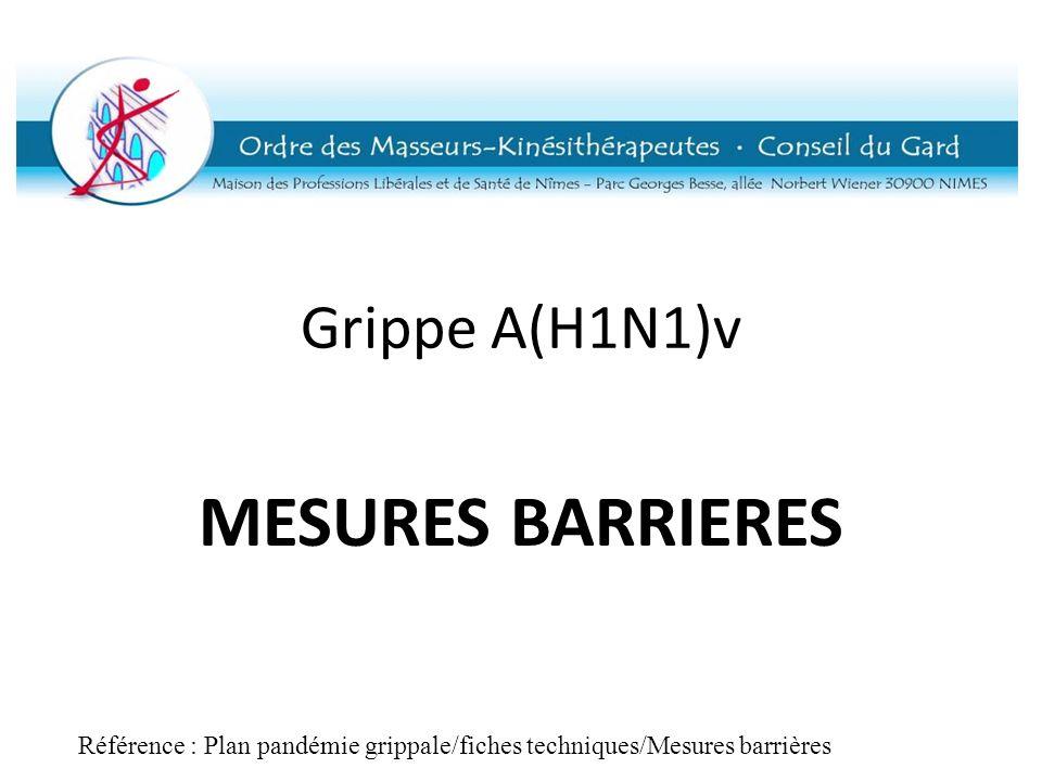 Référence : Plan pandémie grippale/fiches techniques/Mesures barrières