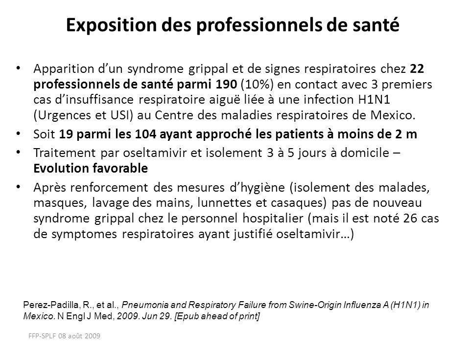 Exposition des professionnels de santé