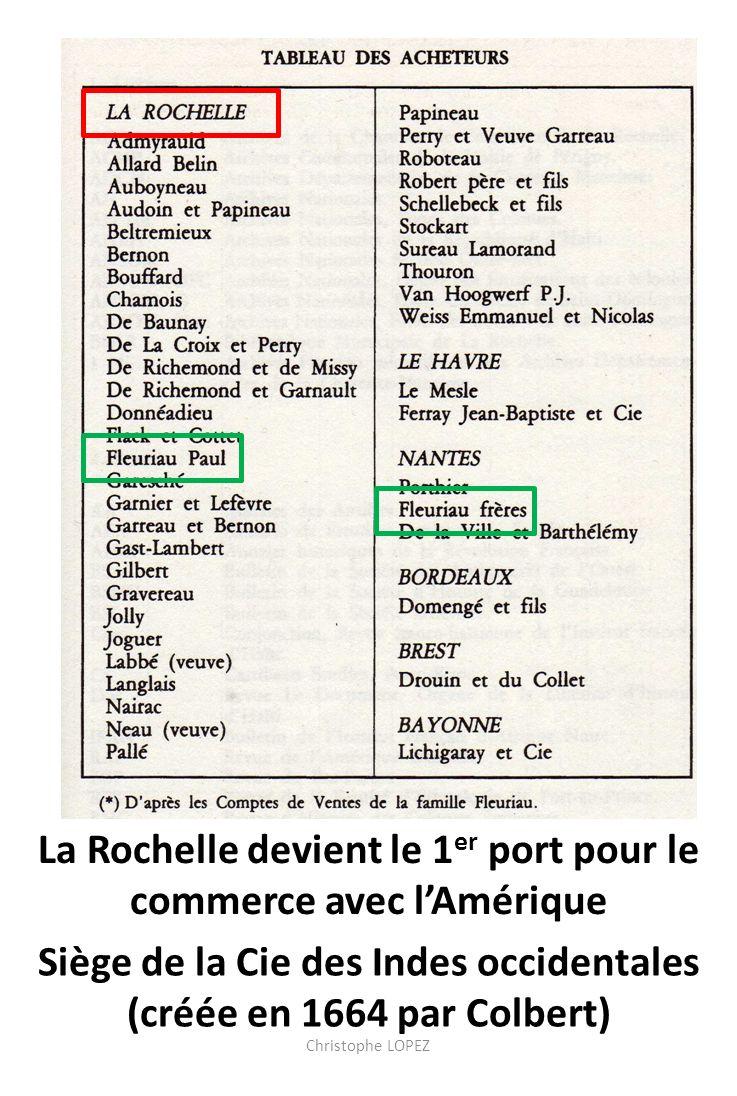La Rochelle devient le 1er port pour le commerce avec l'Amérique