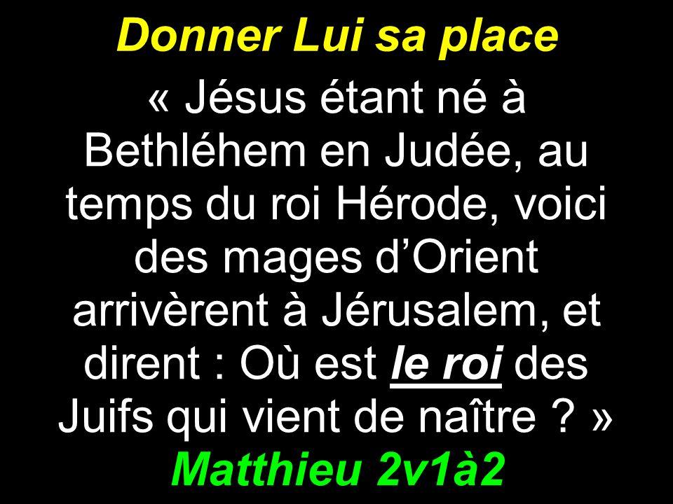 Donner Lui sa place Matthieu 2v1à2