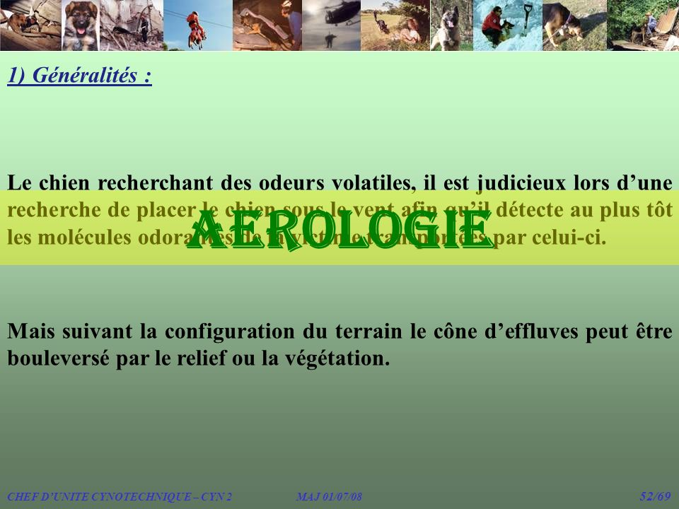 AEROLOGIE 1) Généralités :