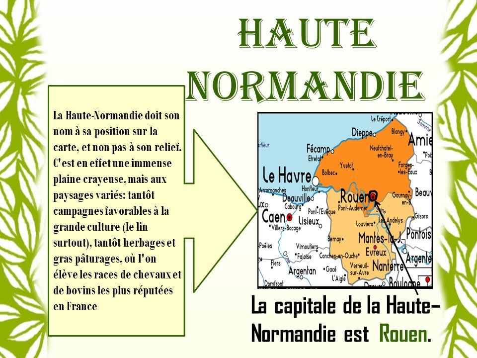 La capitale de la Haute–Normandie est Rouen.