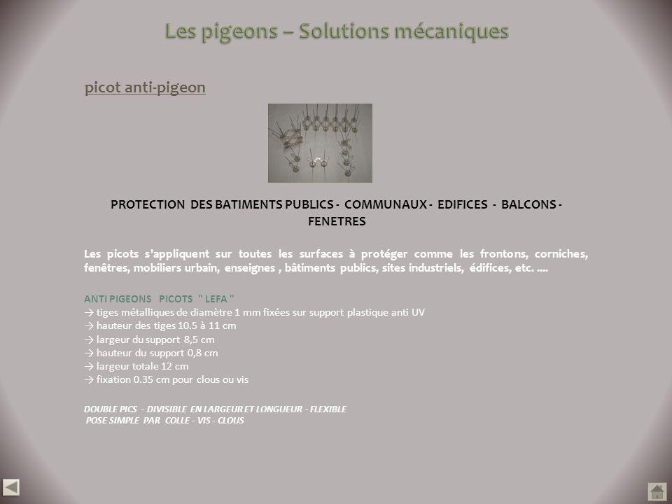 Les pigeons – Solutions mécaniques