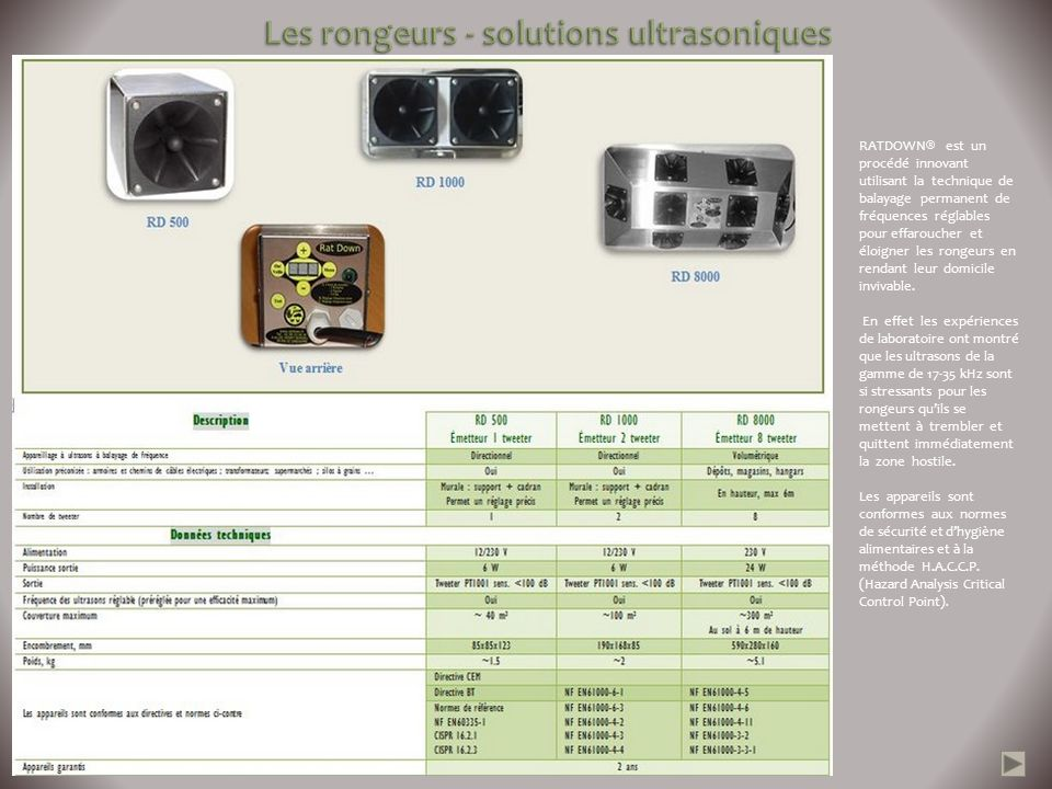 Les rongeurs - solutions ultrasoniques