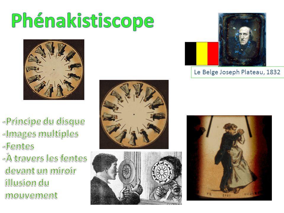 Phénakistiscope -Principe du disque -Images multiples -Fentes