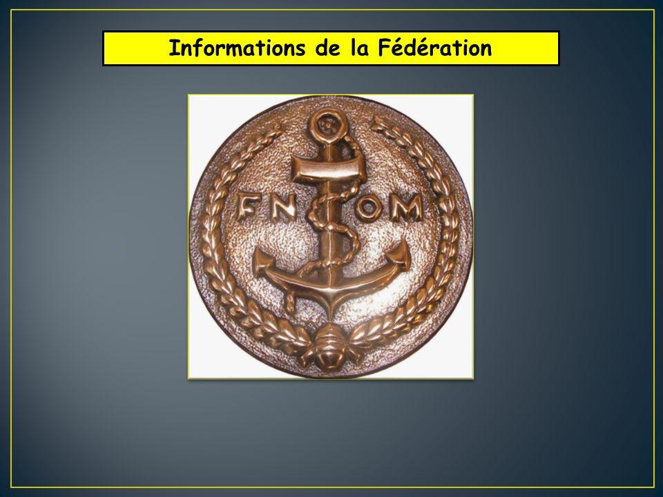 Informations de la Fédération