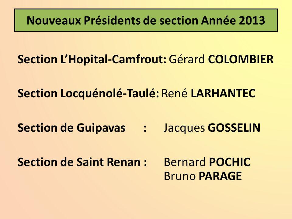 Nouveaux Présidents de section Année 2013