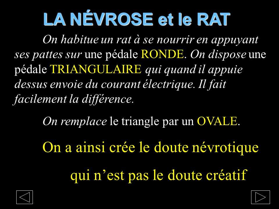 LA NÉVROSE et le RAT qui n'est pas le doute créatif