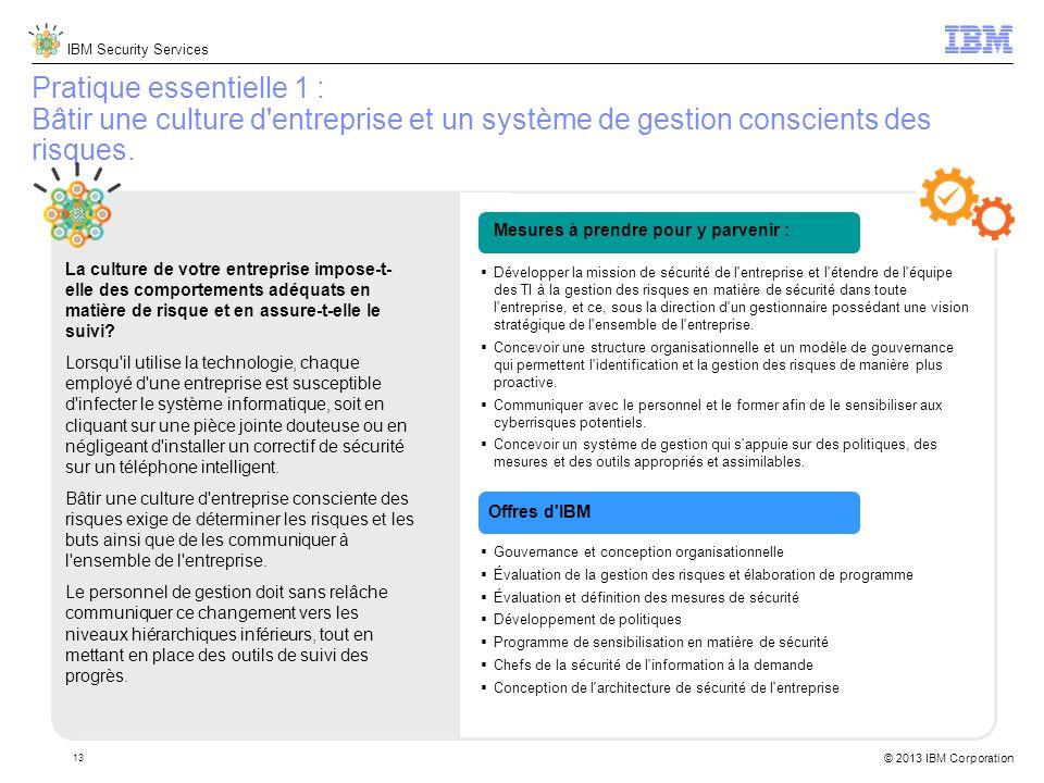 Pratique essentielle 1 : Bâtir une culture d entreprise et un système de gestion conscients des risques.