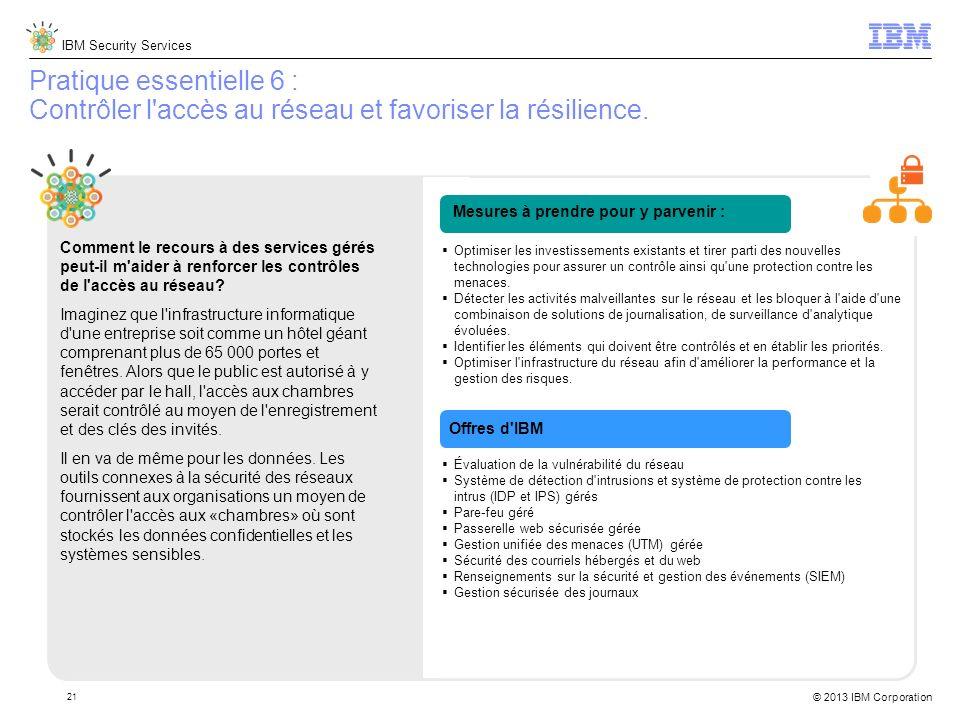 Pratique essentielle 6 : Contrôler l accès au réseau et favoriser la résilience.