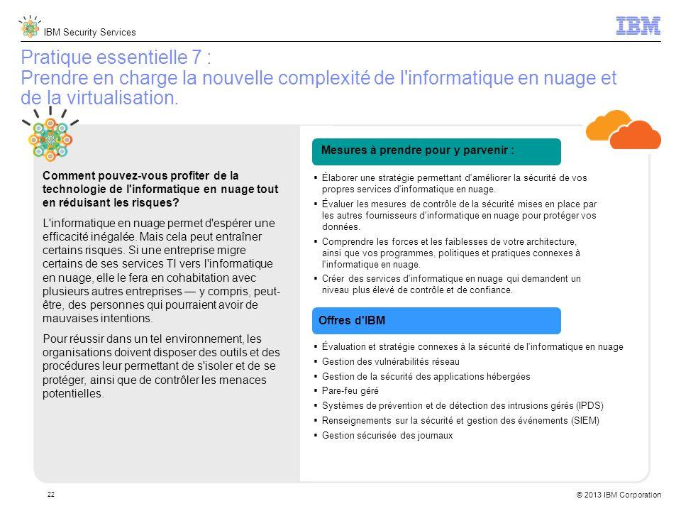 Pratique essentielle 7 : Prendre en charge la nouvelle complexité de l informatique en nuage et de la virtualisation.