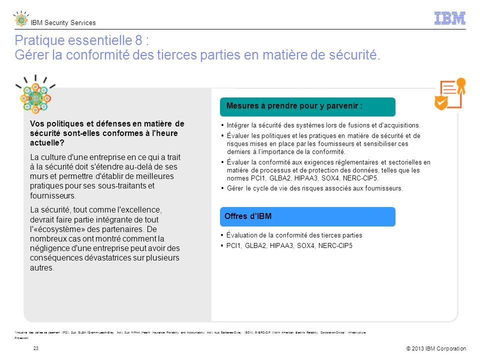 Pratique essentielle 8 : Gérer la conformité des tierces parties en matière de sécurité.