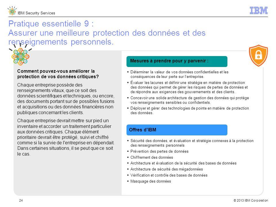 Pratique essentielle 9 : Assurer une meilleure protection des données et des renseignements personnels.