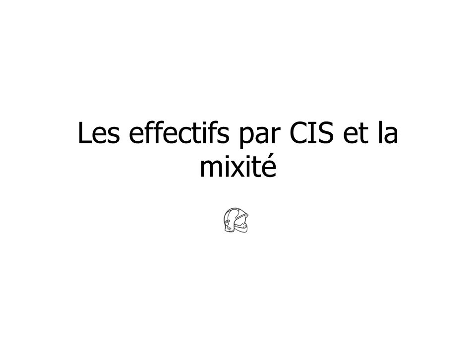Les effectifs par CIS et la mixité