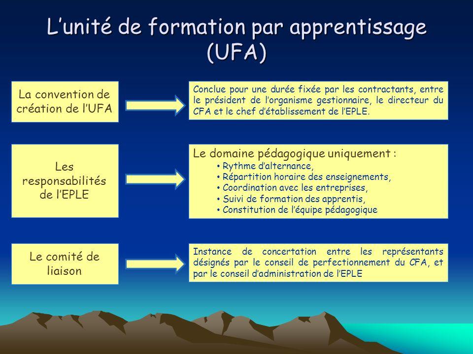 L'unité de formation par apprentissage (UFA)