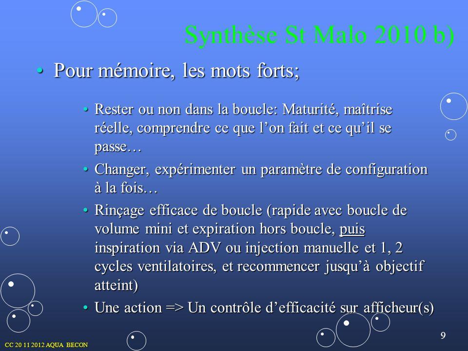 Synthèse St Malo 2010 b) Pour mémoire, les mots forts;