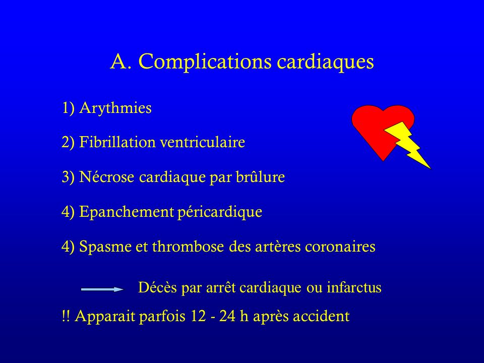 A. Complications cardiaques