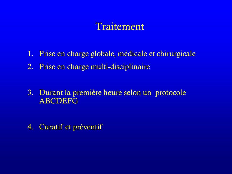 Traitement Prise en charge globale, médicale et chirurgicale