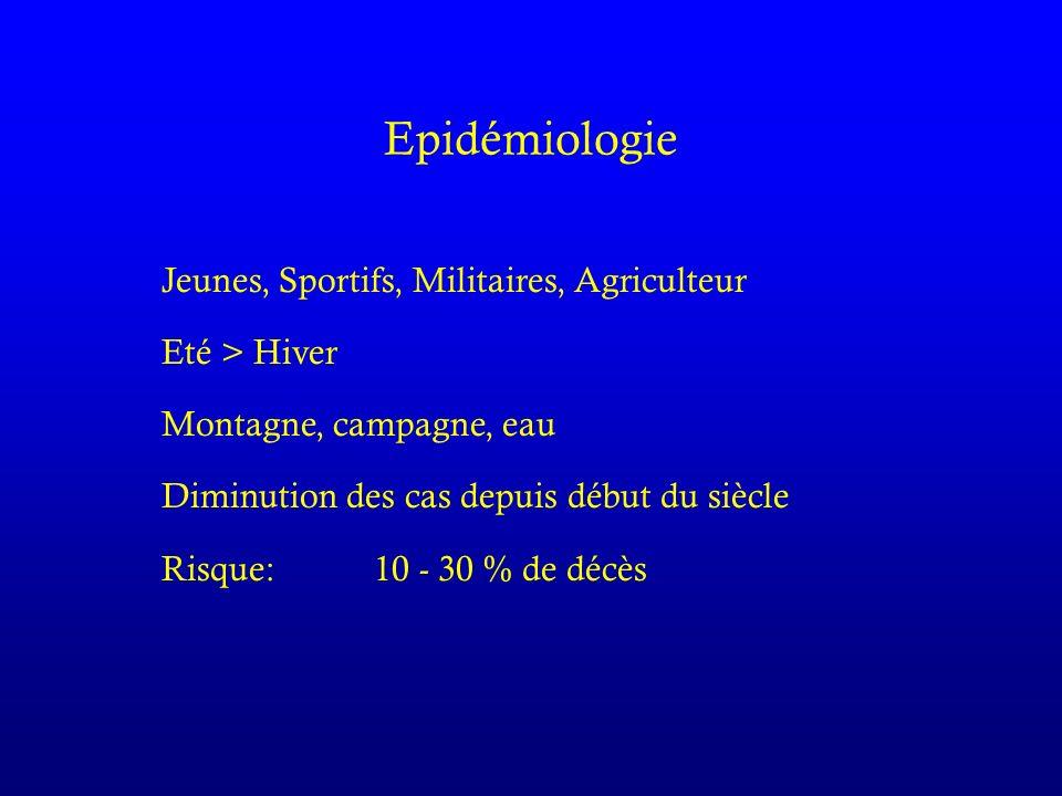 Epidémiologie Jeunes, Sportifs, Militaires, Agriculteur Eté > Hiver