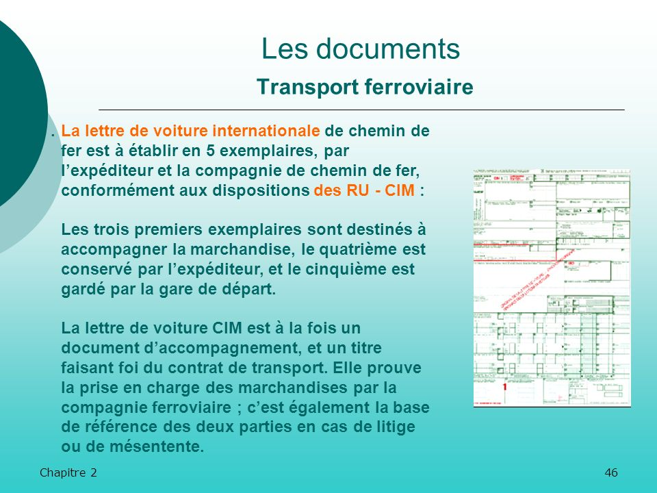 Les documents Transport ferroviaire