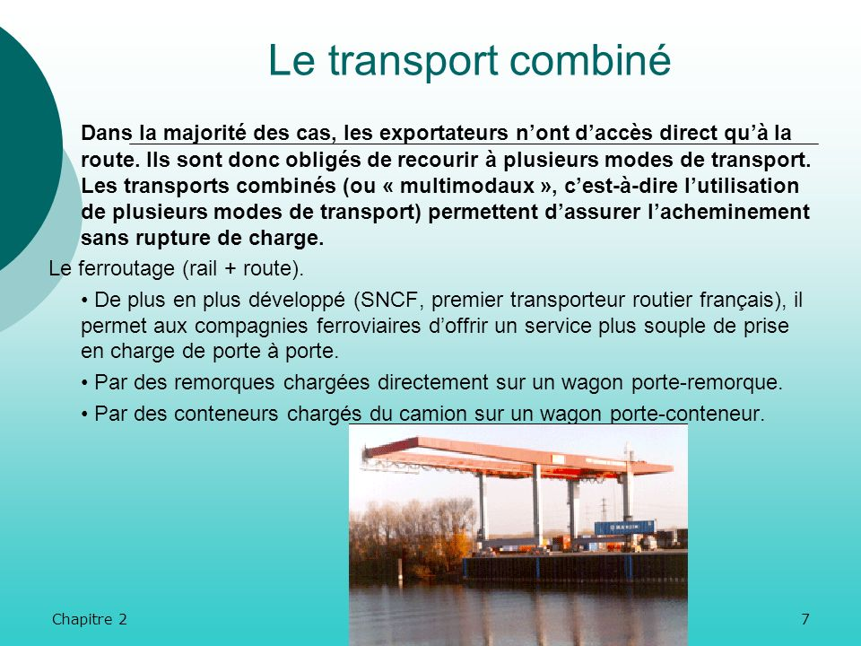 Le transport combiné