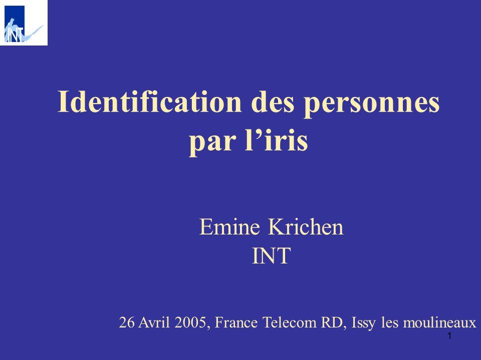 Identification des personnes par l'iris