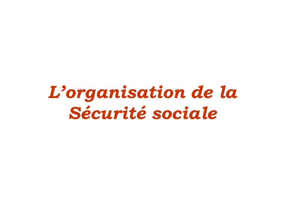 L'organisation de la Sécurité sociale