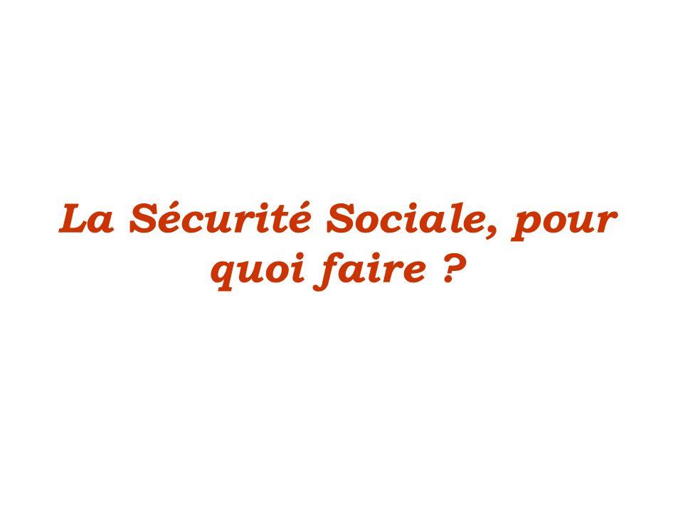 La Sécurité Sociale, pour quoi faire