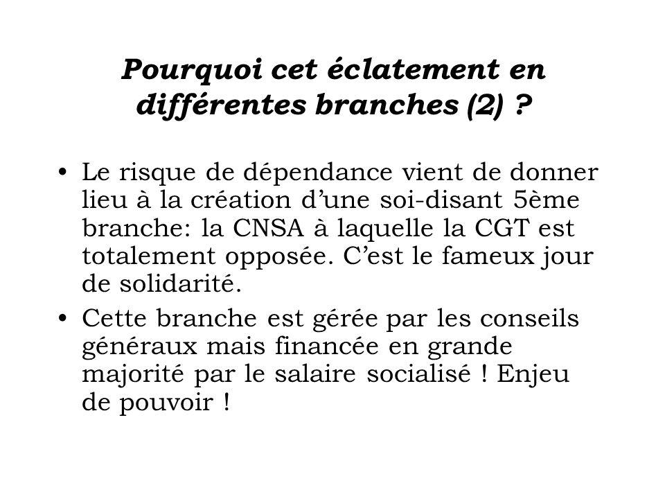 Pourquoi cet éclatement en différentes branches (2)