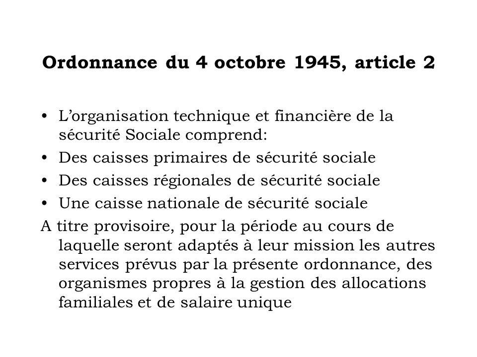 Ordonnance du 4 octobre 1945, article 2