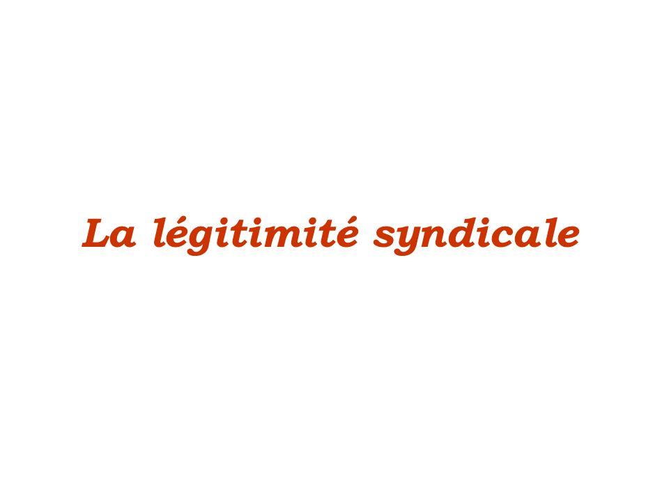 La légitimité syndicale