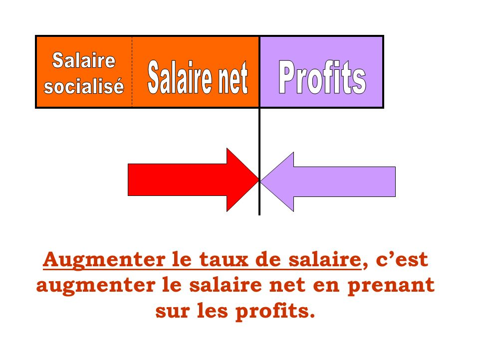 Salaire socialisé Salaire net Profits