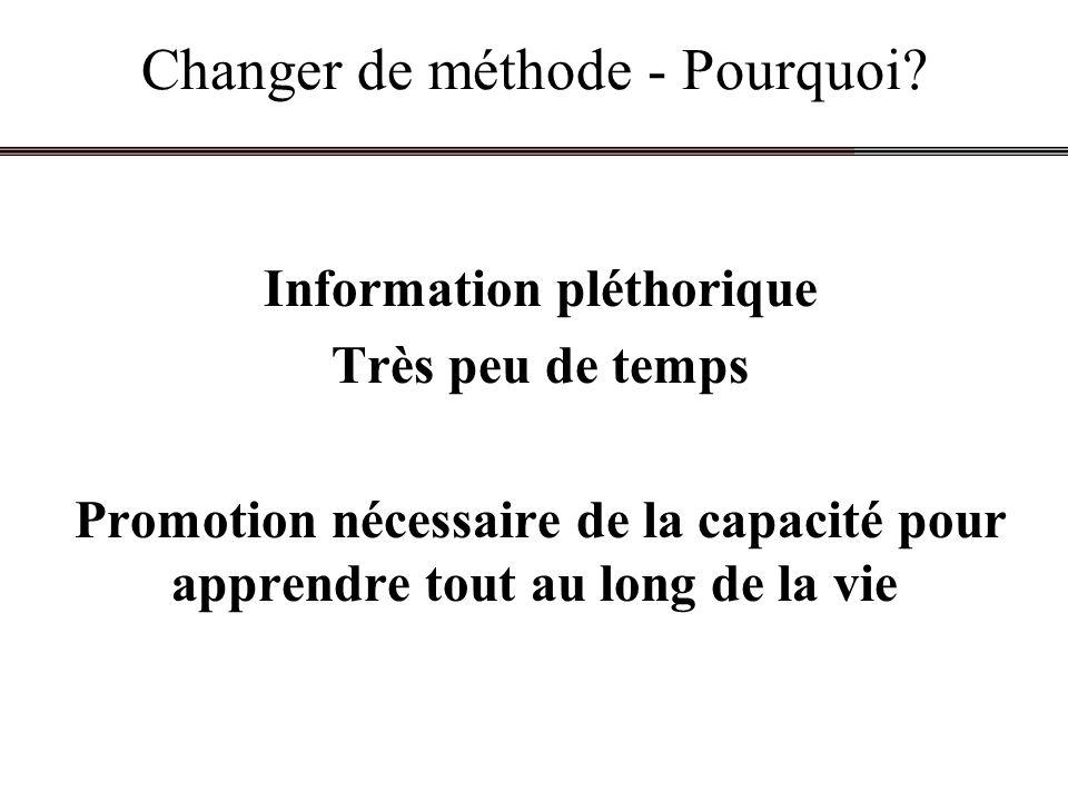 Changer de méthode - Pourquoi