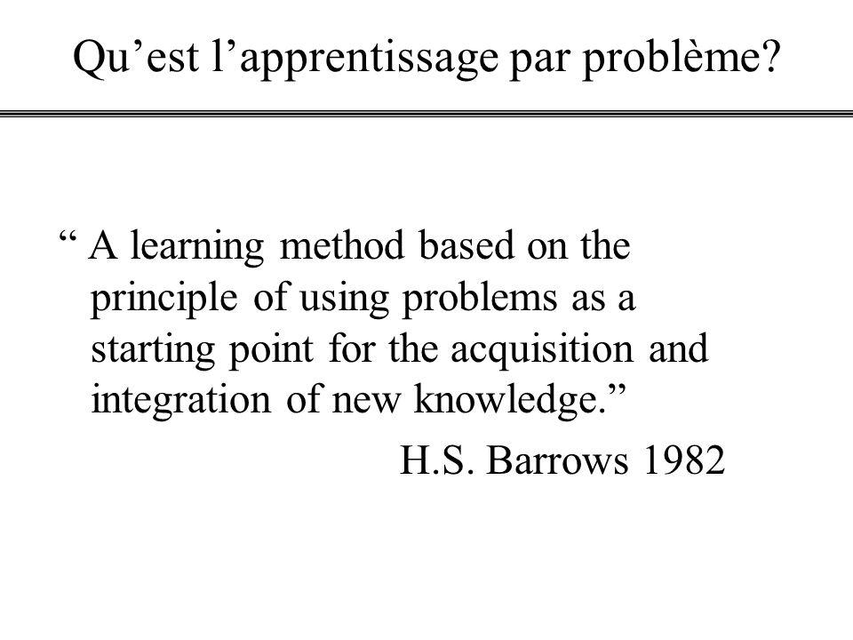Qu'est l'apprentissage par problème