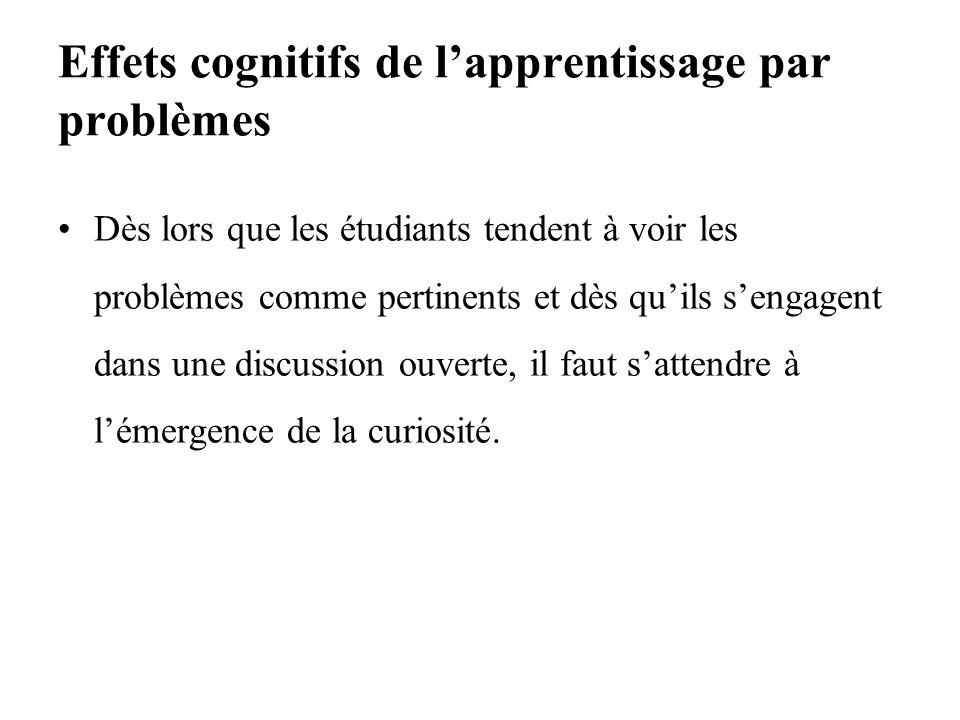Effets cognitifs de l'apprentissage par problèmes