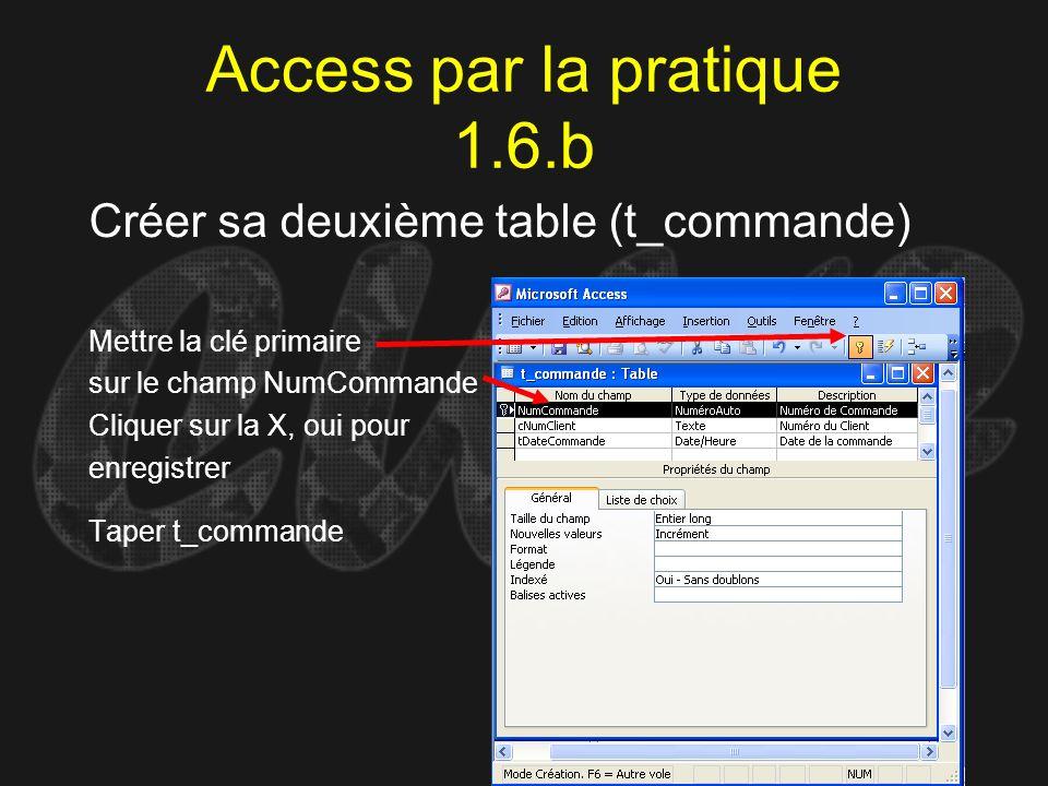 Access par la pratique 1.6.b