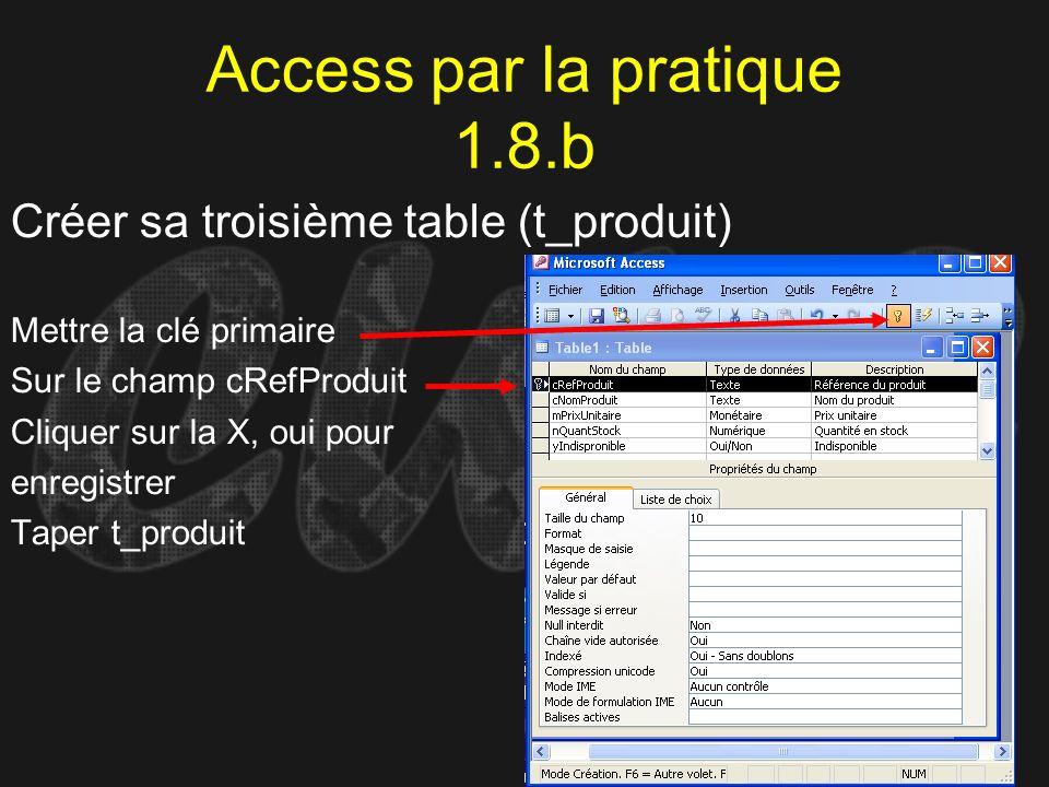 Access par la pratique 1.8.b