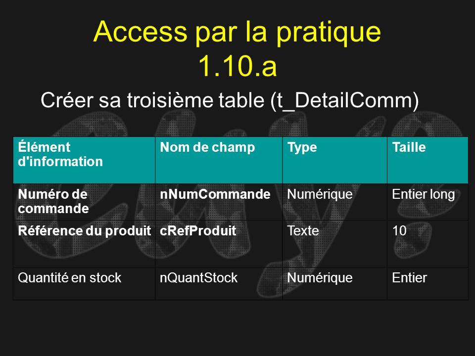 Access par la pratique 1.10.a